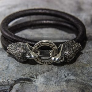 Eagle Leather Bracelet