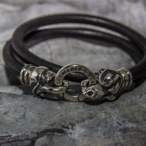 Jörmungandr Leather Bracelet